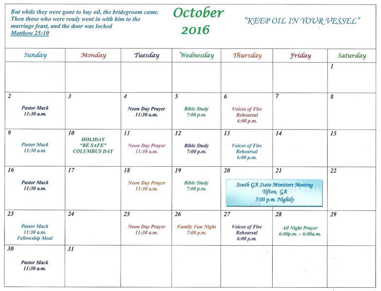 Church Calendar & Chronicles